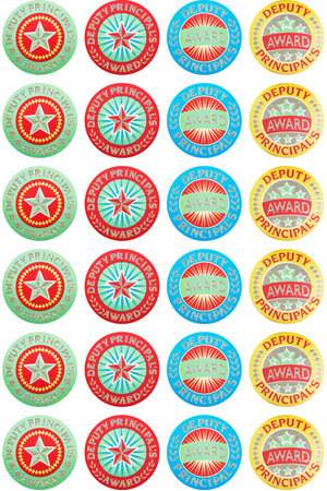 Deputy Principal's Award (29mm) - Silver Glitz on Silver Foil Stickers