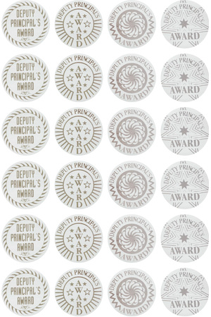 Deputy Principal's Award (29mm) - Silver Foil Stickers