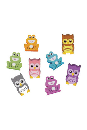 Owls and Frogs - Erasers