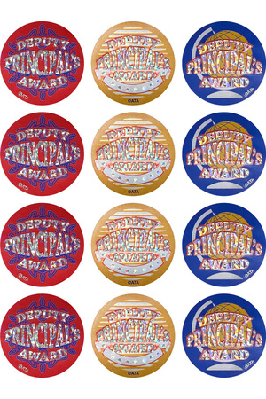 Deputy Principal's Award (40mm) - Foil Glitz Stickers