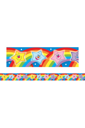 Stars with Rainbows - Large Borders (Pack of 12)