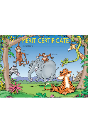 Zoo Animals - Certificates
