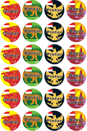 Indonesian - Language Merit Stickers (Pack of 96)