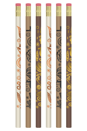 Aboriginal Design - Pencils