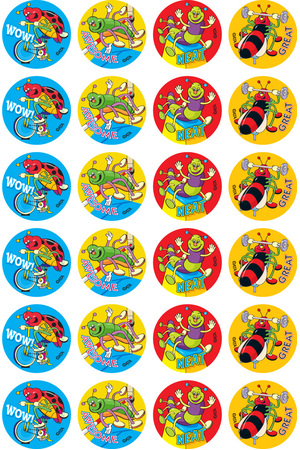 Sporty Bugs - Merit Stickers (Pack of 96)