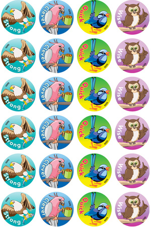 Clever Birds - Merit Stickers (Pack of 96)