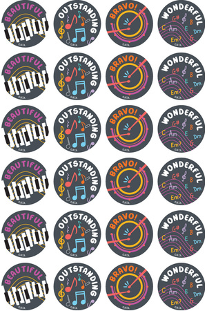 Music Maestros - Merit Stickers (Pack of 96)