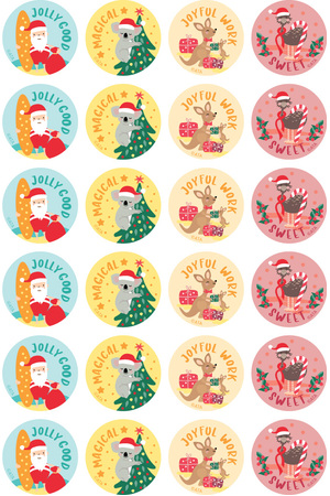 Christmas - Merit Stickers (Pack of 96)