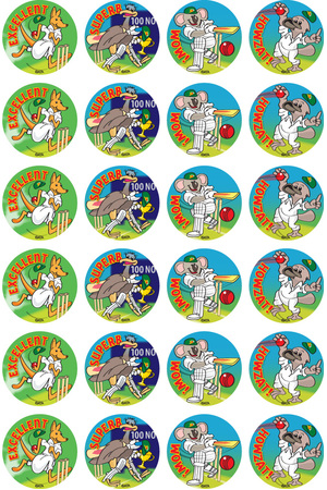 Cricket - Merit Stickers (Pack of 96)