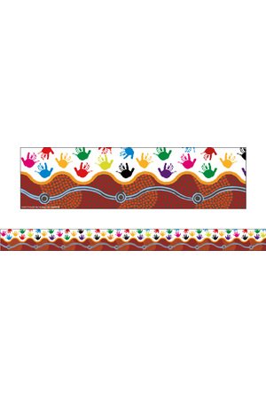 Desert Handprints - Pop Apart Borders (Pack of 12)