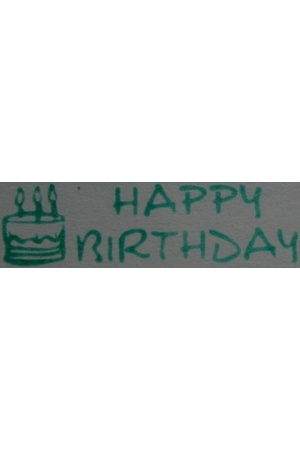 Happy Birthday (Green) - Roller Stamp