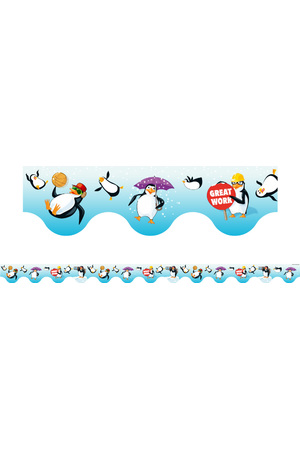 Penguins - Scalloped Borders (Pack of 12)