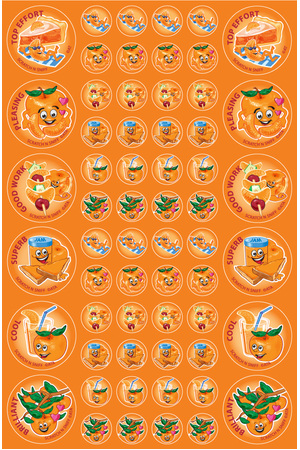 Mandarin - ScentSations Fruit Stickers (Pack of 180)