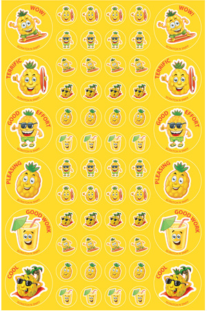 Pineapple - ScentSations Fruit Stickers (Pack of 180)