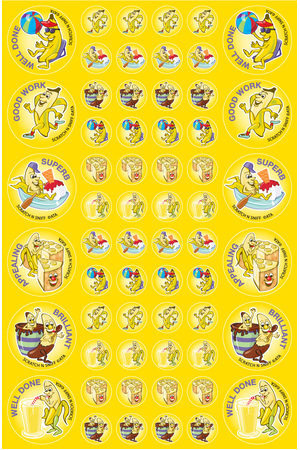 Banana - ScentSations Fruit Stickers (Pack of 180)