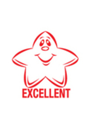 Excellent Star - Merit Stamp (Previous Version)