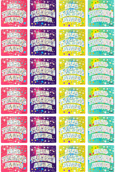 Head Teacher's Award (29mm) - Holographic Foil Glitz Stickers (Pack of 60)