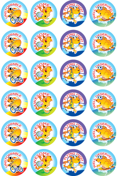 Active Guinea Pigs - Merit Stickers (Pack of 96)