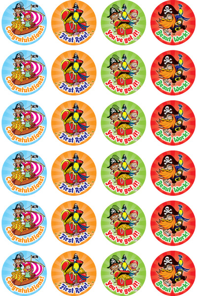 Pirates - Merit Stickers (Pack of 96)